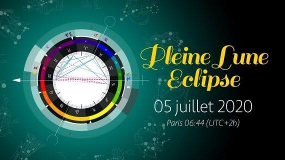 Pleine Lune et Eclipse lunaire du 5 Juillet 2020